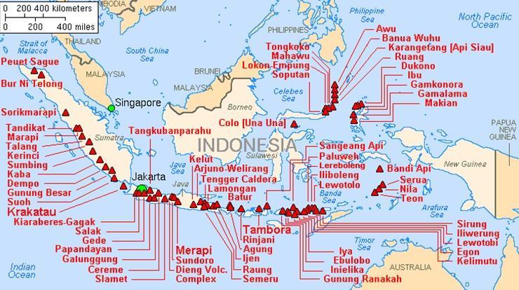 """Индонезийската дъга (Фиг. 1) е част от т.нар. """"Тихоокенския огнен"""