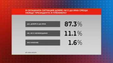 В Референдум: 87% от хората одобряват среща между Радев и Борисов