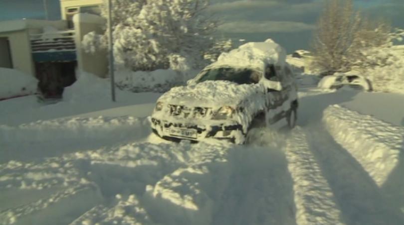рекордна снежна покривка рейкявик