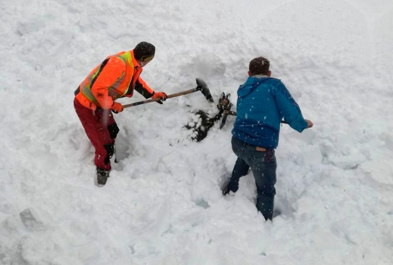снимка 1 Зимата в Европа: В четири австрийски провинции обявиха висока лавинна опасност