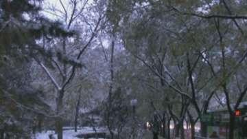 Първи сняг в Китай
