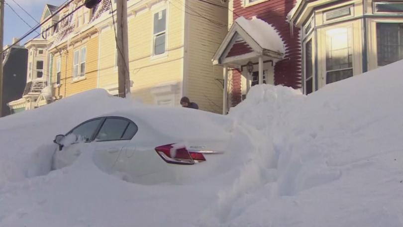 Снегът в канадската провинция Нюфаундленд достигна 76 сантиметра. Заради обилния