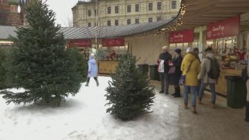 Най-меката зима в Москва, насипват изкуствен сняг за новогодишните тържества