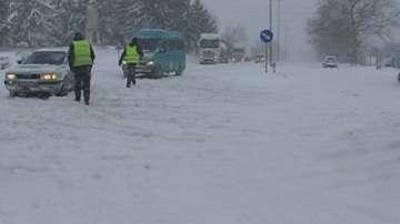 Пътят Русе - Разград е затворен за всички автомобили