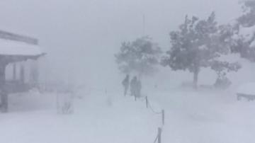 Сняг покри Гранд Каньон