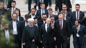Президентите на Русия, Турция и Иран обсъдиха ситуацията в Сирия