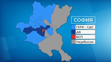 ГЕРБ и Демократична България имат най-много районни кметове в София