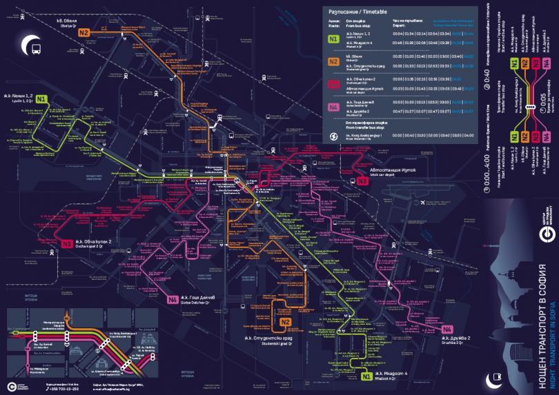 снимка 1 В полунощ тръгва нощният градски транспорт на София