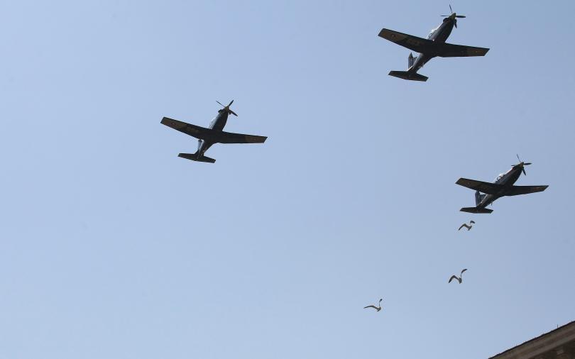 """Тройка учебни самолети """"Пилатус"""" също ще прелетят над столицата в Деня на храбростта"""