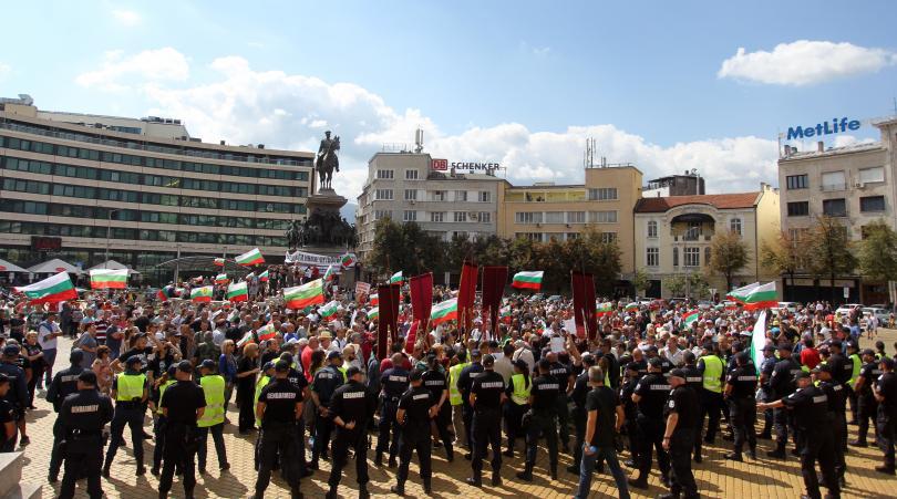снимка 3 Протест пред Народното събрание срещу системата на управление