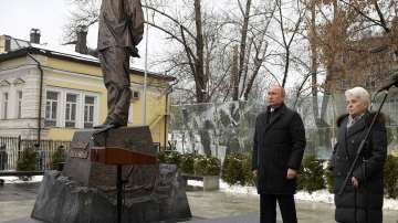 Откриха паметник на Солженицин в Москва