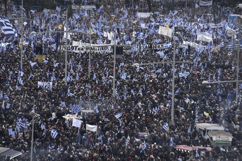 Хиляди хора от цяла Гърция се събраха в Солун на