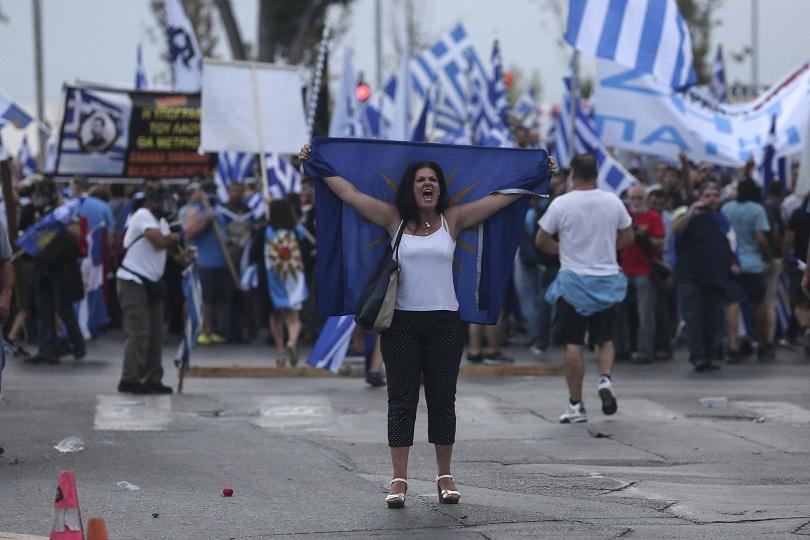 гръцката полиция използва сълзотворен газ демонстранти