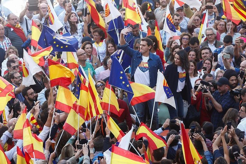 Снимка: Демонстрация в подкрепа на единството на Испания
