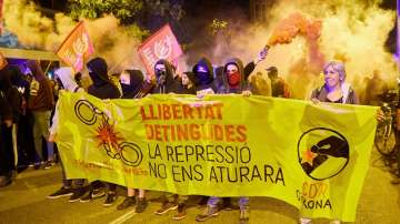 Масови протести по повод 2 години от референдума за независимост на Каталуния