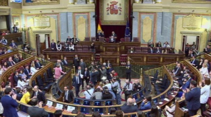 Долната Камара на испанския парламент проведе първото си заседание след
