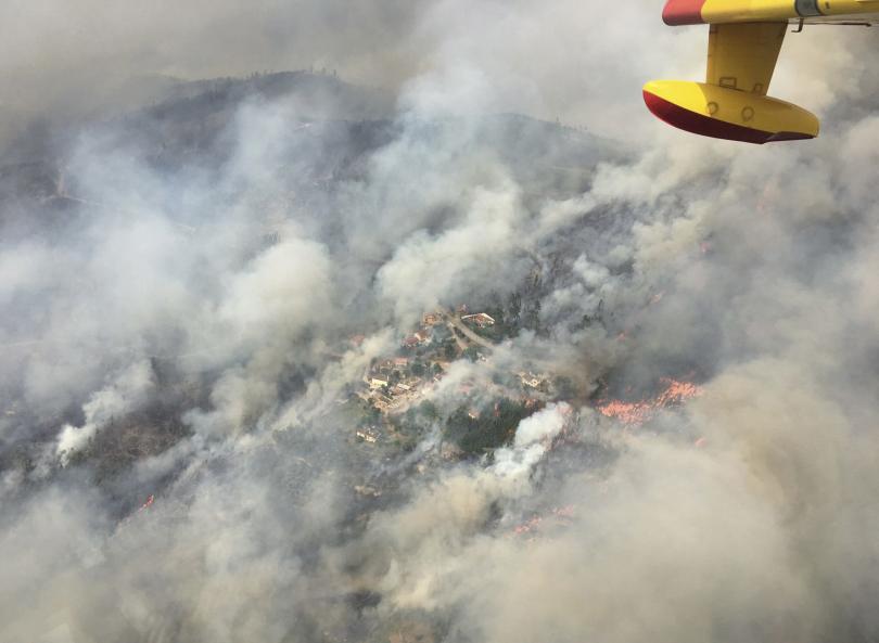 Най-малко 1500 души са евакуирани заради пожар в природен парк в Испания