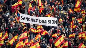 Антиправителствени протести се проведоха в Мадрид заради политиката за Каталуния