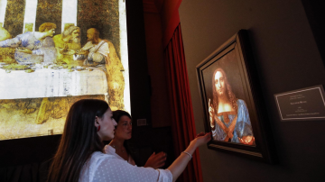 """Учени разгадаха тайната на картината на Леонардо """"Спасителят на света"""""""