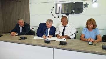 ГЕРБ и СДС подписаха споразумение за партньорство на местните избори