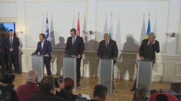Вижте съвместната пресконференция след четиристранната балканска среща