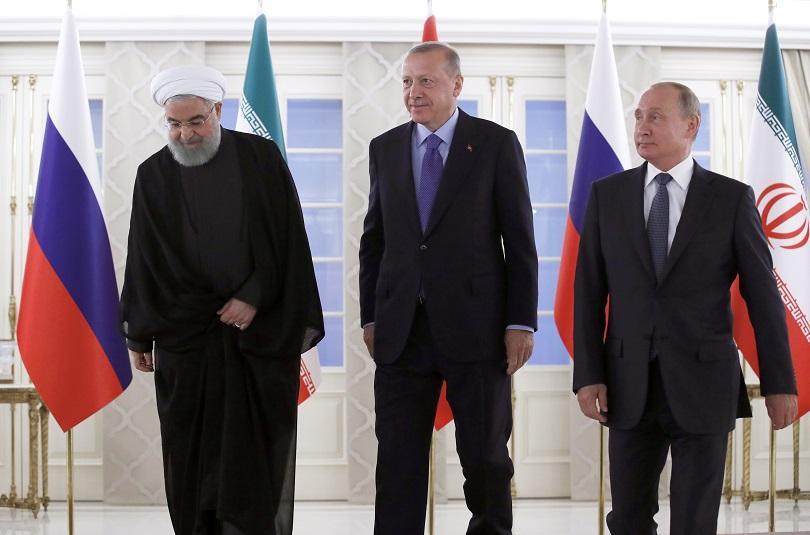 Президентите на Турция, Русия и Иран се събраха днес в
