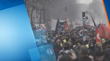 Най-малко 9 души са арестувани на стачката във Франция