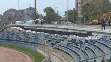 Нов булевард преминава през трибуните на стадион във Варна