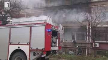 Клошар предизвика пожар в жилищна кооперация в центъра на Казанлък