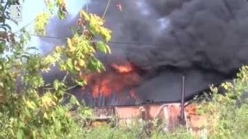 Пожар изпепели дърводелски цех в Казанлък