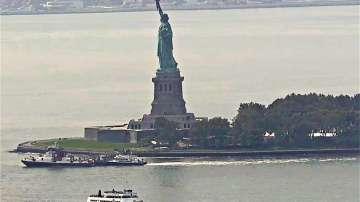 Евакуираха острова на Статуята на Свободата заради пожар