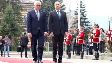 Германският президент Франк-Валтер Щайнмайер пристигна в България