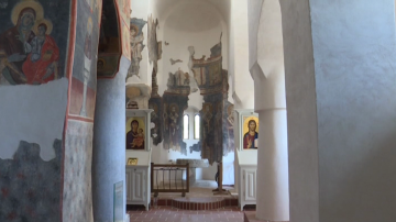 Реставрираха средновековни стенописи в църквата в град Рила