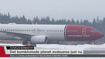 Приземиха норвежки самолет след фалшив сигнал за бомба на борда