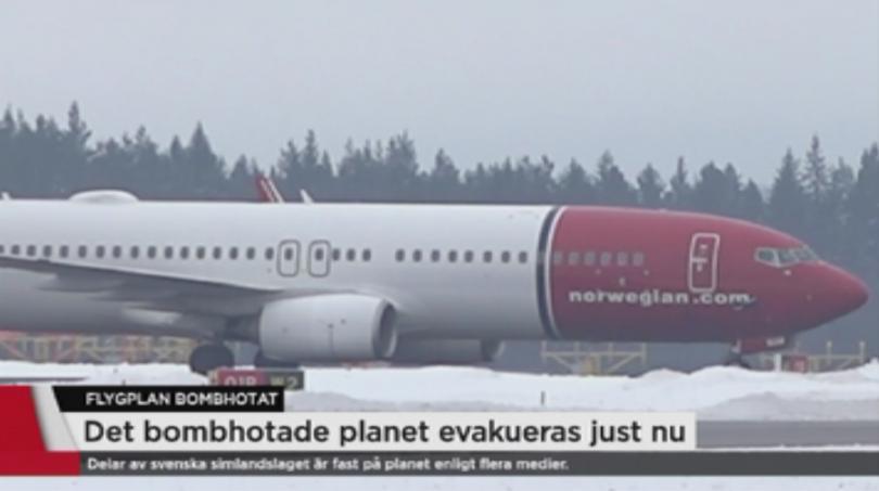 Бомбена заплаха върна принудително норвежки пътнически самолет на летището в