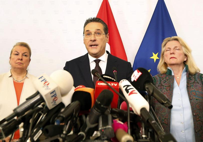бившият австрийски вицеканцлер хайнц кристиан щрахе става евродепутат
