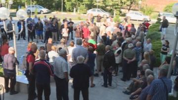 Жители на Струмяни протестираха заради тройно поскъпване на водата