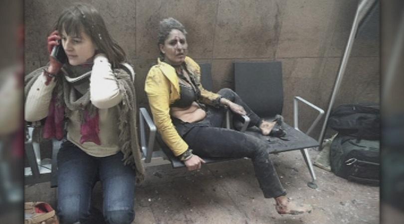 снимка 1 След атентата в Брюксел - ужасът запечатан в снимки