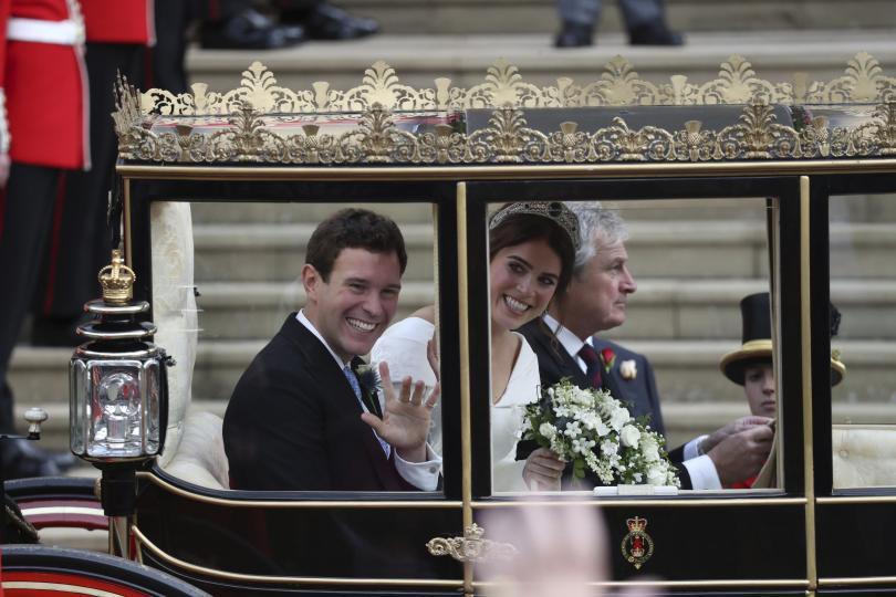 снимка 11 Кралска сватба: Принцеса Юджини каза Да на бизнесмена Джак Бруксбанк