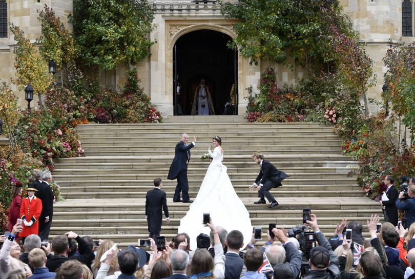 снимка 5 Кралска сватба: Принцеса Юджини каза Да на бизнесмена Джак Бруксбанк