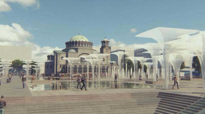 Проектът за обновление на пространството около храм