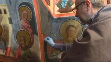Реставрират уникалните стенописи в параклиса Свети Николай в Рилския манастир