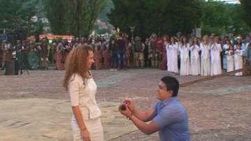 """С романтично предложение за брак започна античният фестивал """"Орел на Дунав"""""""