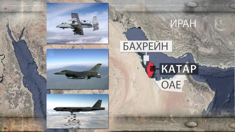 """От горе на долу: американски щурмовик А-10 """"Тъндърболт"""", многоцелеви изтребител F-16 """"Файтинг фалкън"""", бомбардировач B-52 """"Стратофортрес"""""""