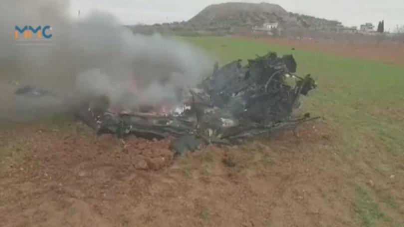 Хеликоптер на сирийската армия е бил свален от подкрепяни от