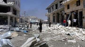Въздушни удари над сирийския град Алепо