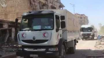Хуманитарна помощ за обсадения сирийски град Дарая