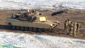 Един тренировъчен ден на полигона Трзебиен с американските танкове