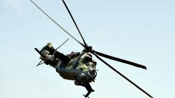 Боен вертолет Ми-24 от състава на Българските ВВС
