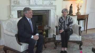 Председателят на Европейския парламент Антонио Таяни посети Тереза Мей
